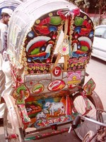 An imported rickshaw